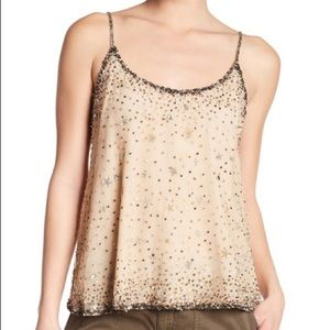 Joie garlen embellished tank top champagne Small